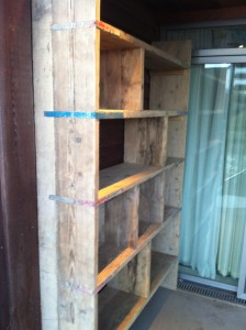 Old scaffold board shelves 2
