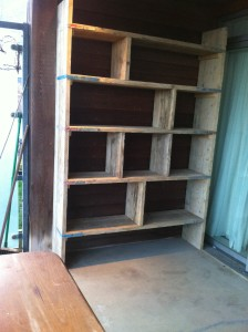 old Scaffold board shelves